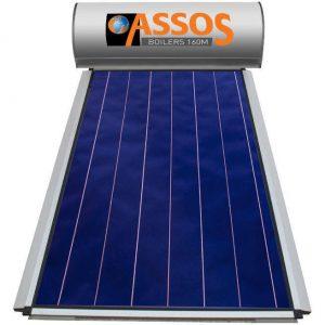 Επιλεκτικού ΣυλλεκτηAssosSP 160M Glass Επιλεκτικός Τιτανίου Τριπλής Ενέργειας για Αντλία Θερμότητας